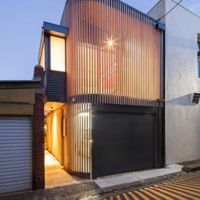 Przebudowa garażu + drewniana ażurowa elewacja