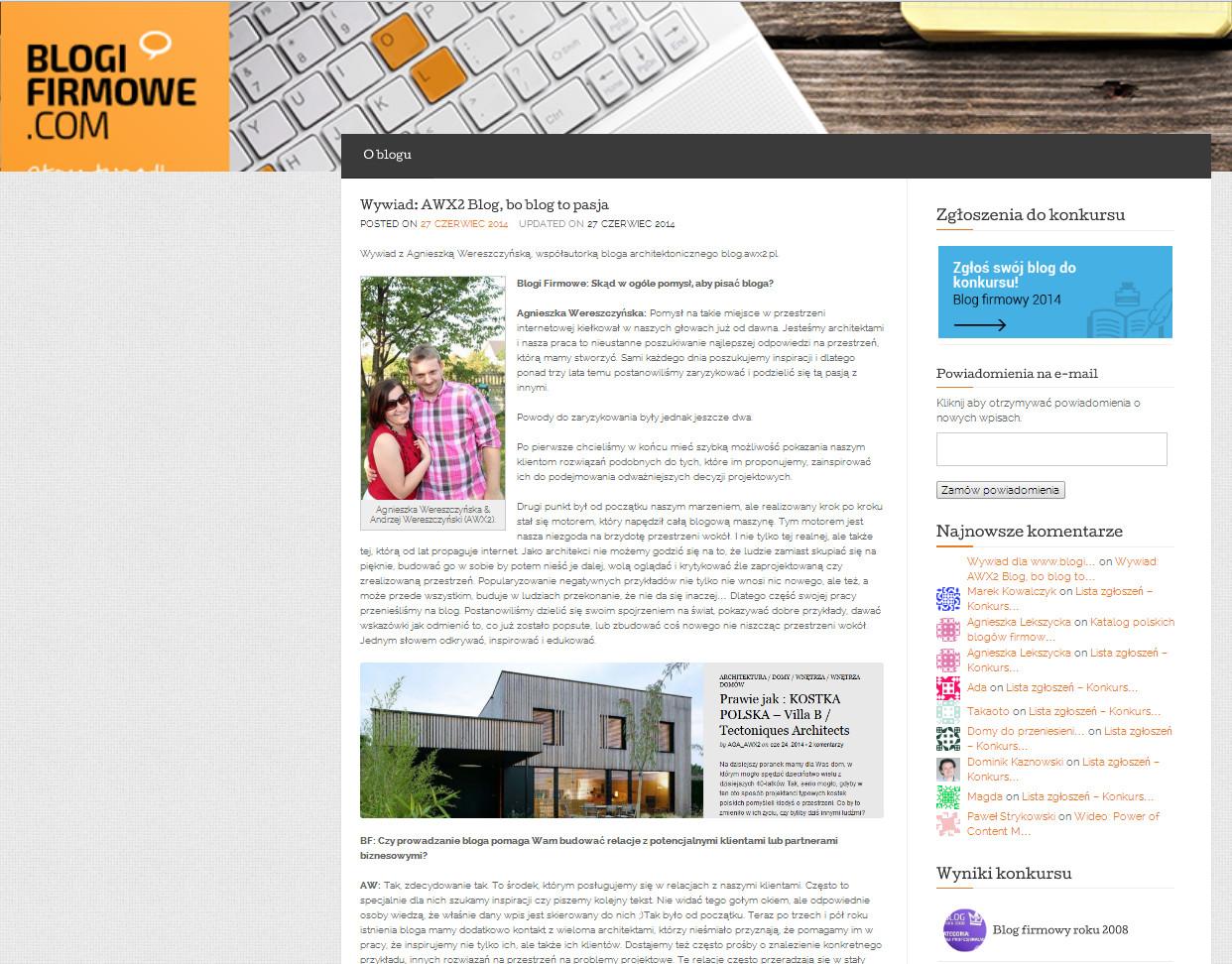 wywiad awx2 blogifirmowe