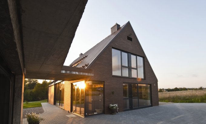 Ceglany dom w Wilnie