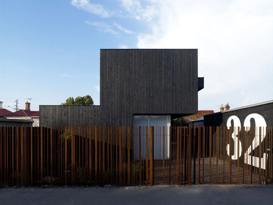 The Lily Street House – nowoczesny czarno-biały dom w Malbourne