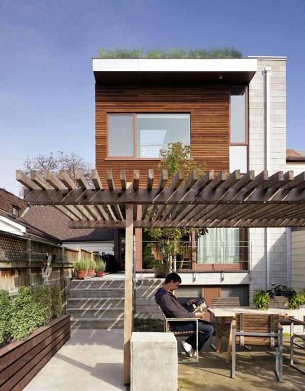 Miejski dom z ogrodem na dachu  / Levitt Goodman Architects