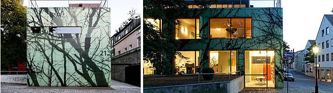 W cieniu drzewa – dom i biuro w Dachau