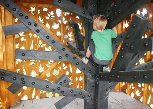 Wspinaczkowy domek dla dzieci