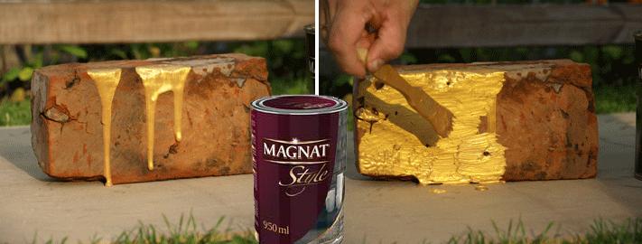 Złoty eksperyment – metaliczna farba firmy Magnat
