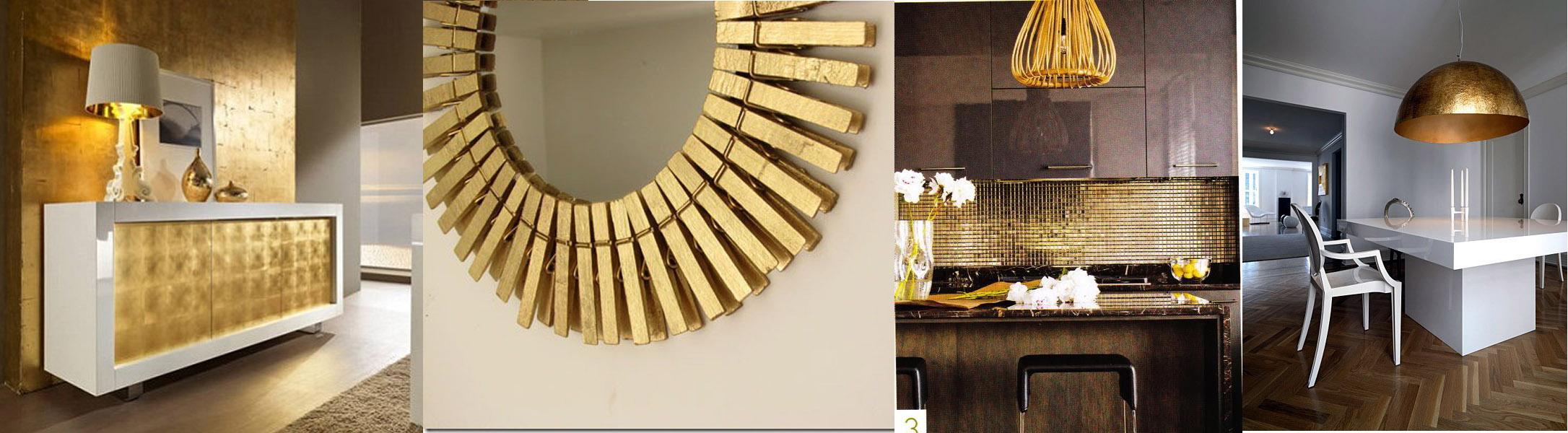 37 inspiracji : Złoto we wnętrzach i architekturze
