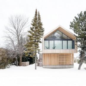 Drewniana stodoła w Kanadzie