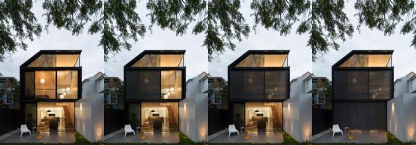 ŚCIANA W GRANICY / przebudowa domu w Sydney