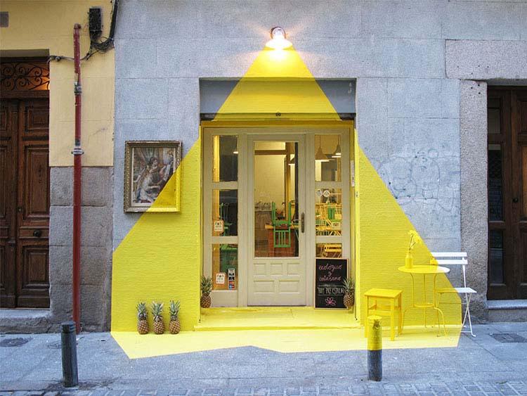 FANTAZJA O TRÓJKĄCIE – zaskakująca instalacja w Madrycie