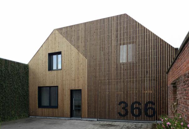 House s m simon vermote architectuur awx2 blog - Interieur gevelbekleding houten ...