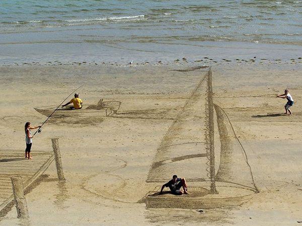 Trówymiarowe iluzje na plaży