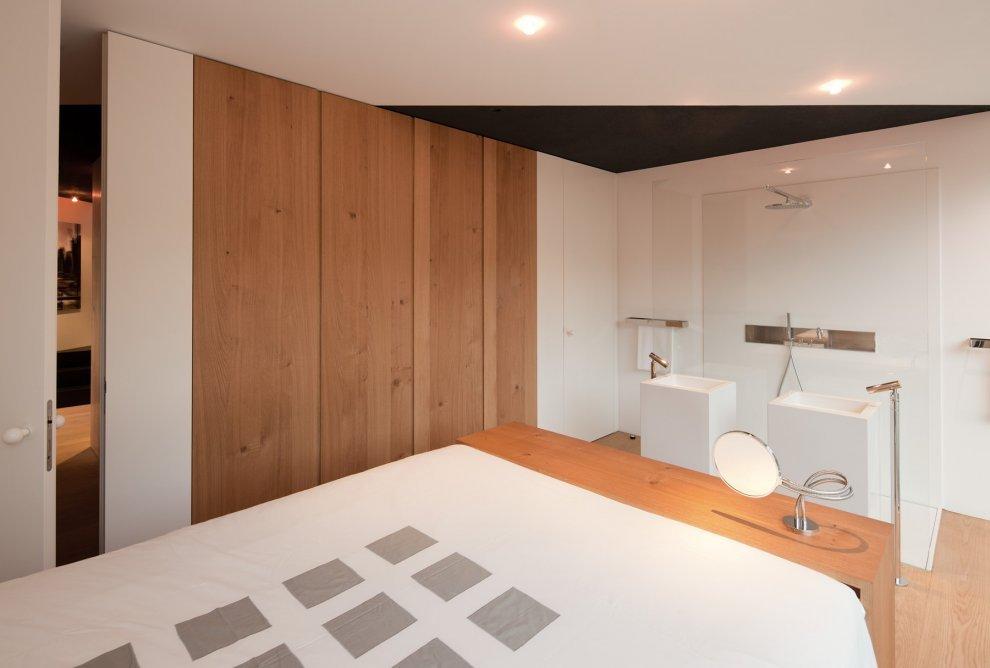 czarno na bia ym dom w wenzenbach niemcy fabi. Black Bedroom Furniture Sets. Home Design Ideas
