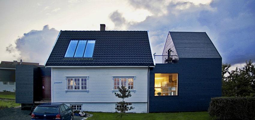 Rozbudowa domu w Norwegii / Rever & Drage Architects