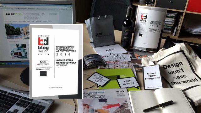 BLOG DESIGN 2014 – AWX2 BLOG wyróżniony w  Kategorii Architektura