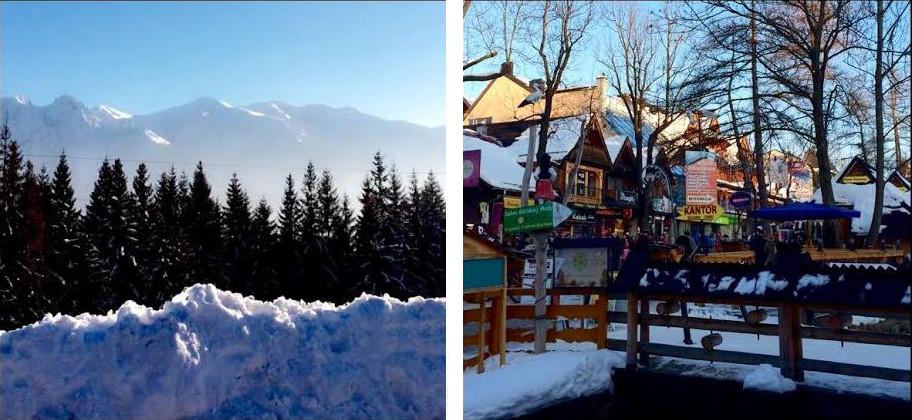 Zimowa pocztówka – biała przestrzeń, narty i….Krupówki
