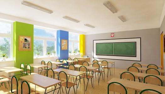 Remont klasy szkolnej w SP 21 w Częstochowie